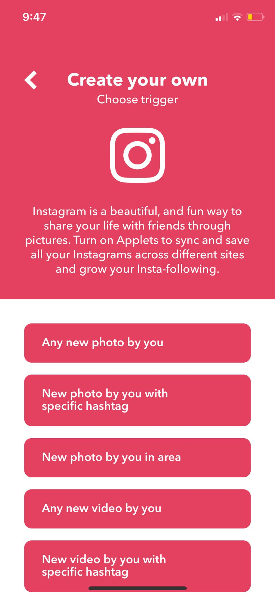 Instagram Trigger on iOS by IFTTT from UIGarage