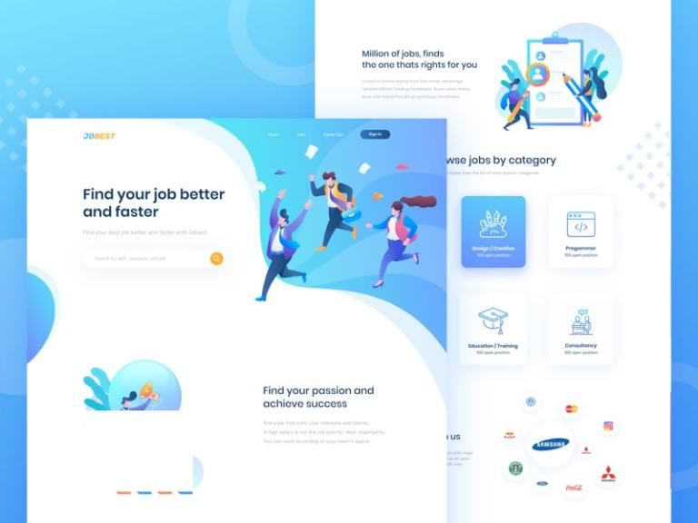 Jobest - Job Portal Landing Page from UIGarage