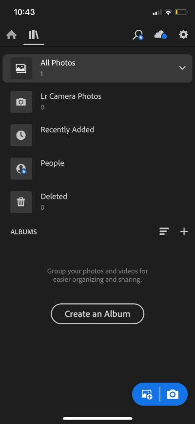 Library on iOS by Adobe Lightroom from UIGarage
