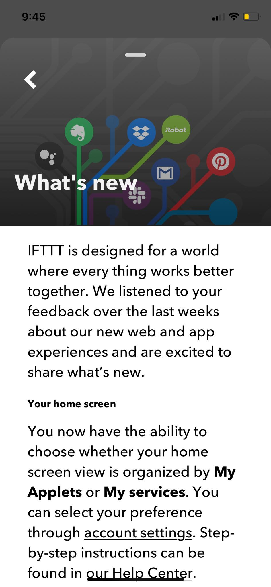 What's New on iOS by IFTTT from UIGarage
