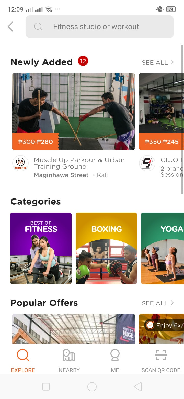 Fitness on Android by Booky from UIGarage