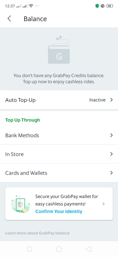 Balance on Android by Grab from UIGarage
