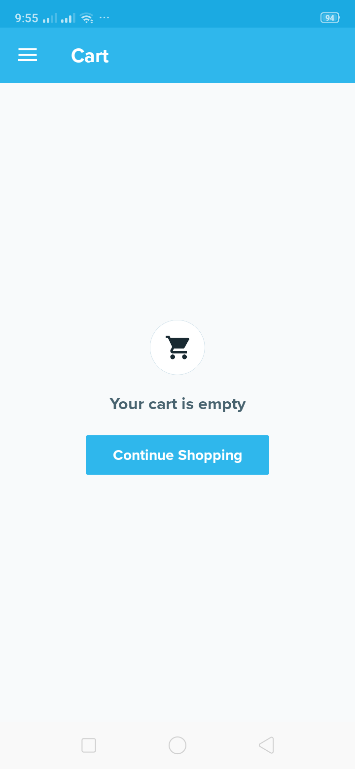 Cart on Android by Wish from UIGarage