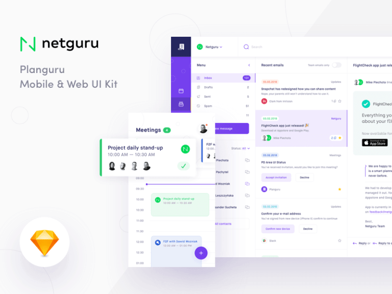 Planguru Free UI Kit from UIGarage