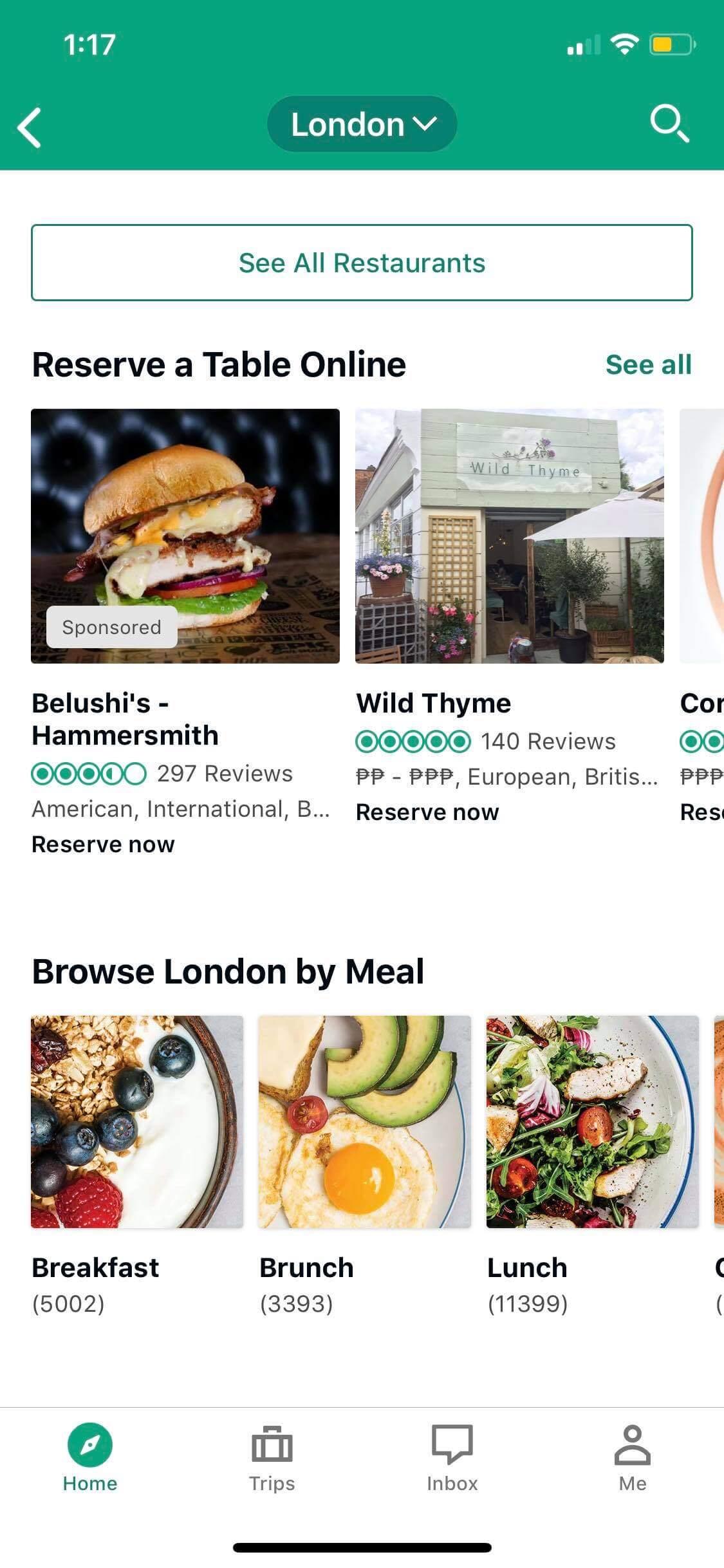Restaurants on iOS by TripAdvisor from UIGarage