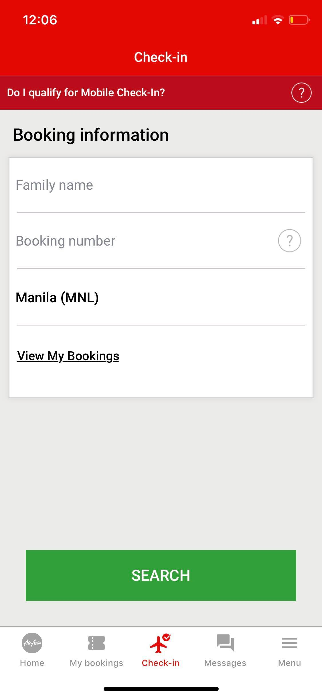Booking on iOS by AirAsia from UIGarage