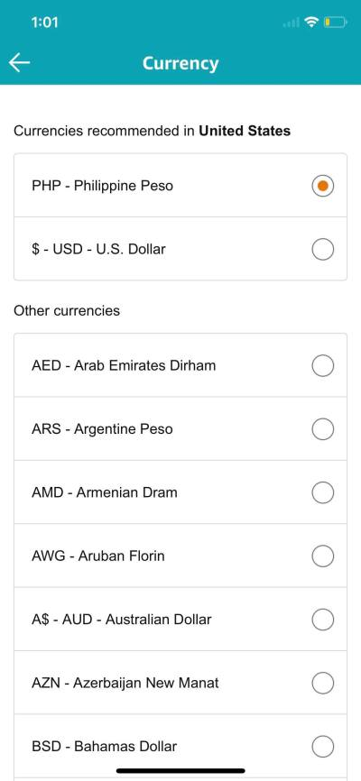 Currency Picker on iOS by Amazon from UIGarage