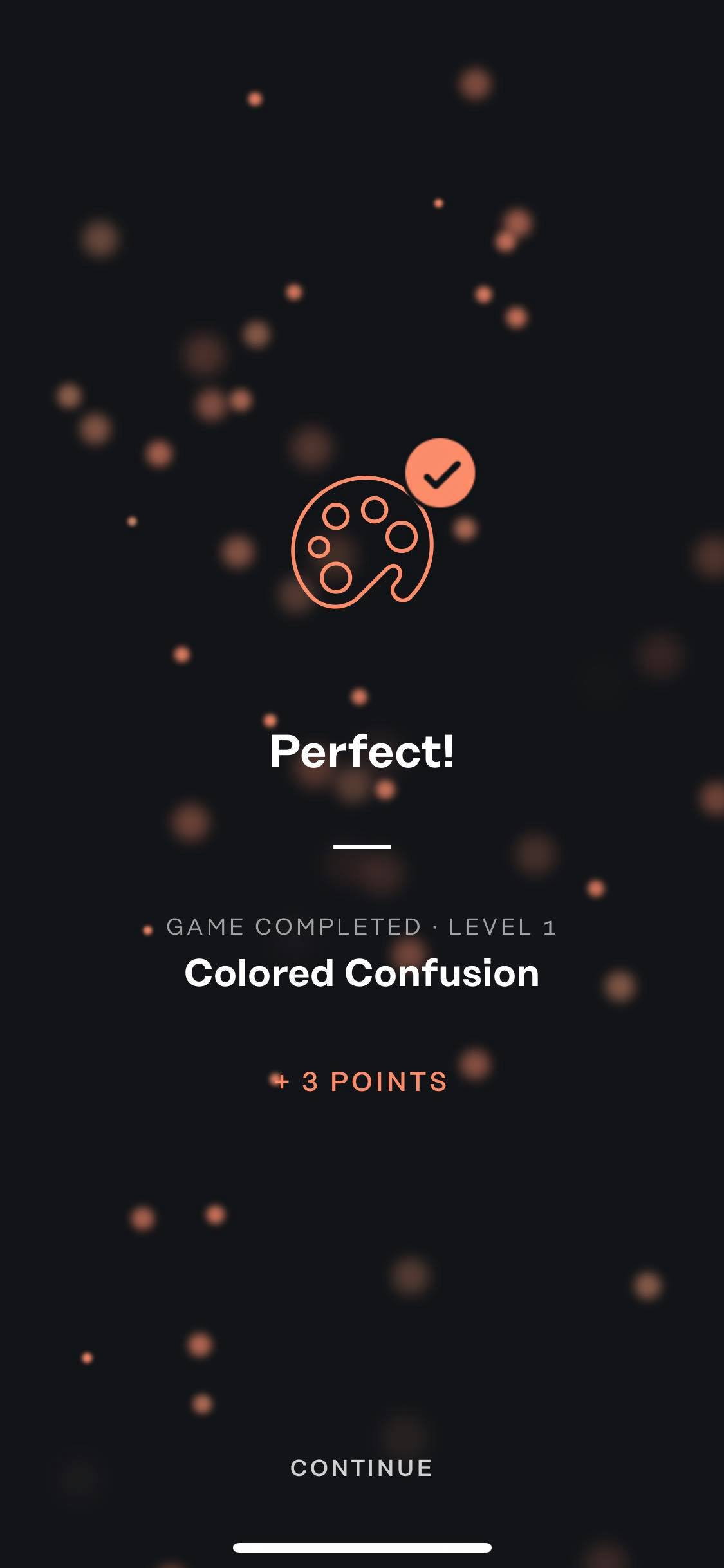 Game Completed on iOS by Geist from UIGarage
