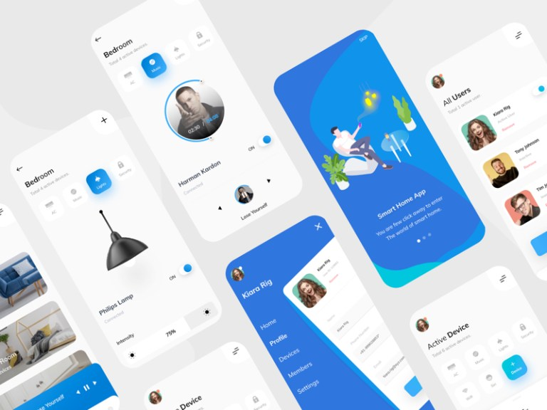 Smart Home UI Kit for Adobe XD from UIGarage