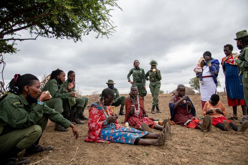 Rangers and Maasai