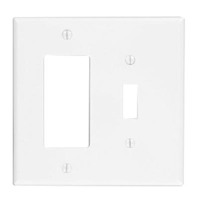 Leviton Pj126 W Thermoplastic Nylon Device Mount Midway Size 2 Gang Combination Wallplate 1