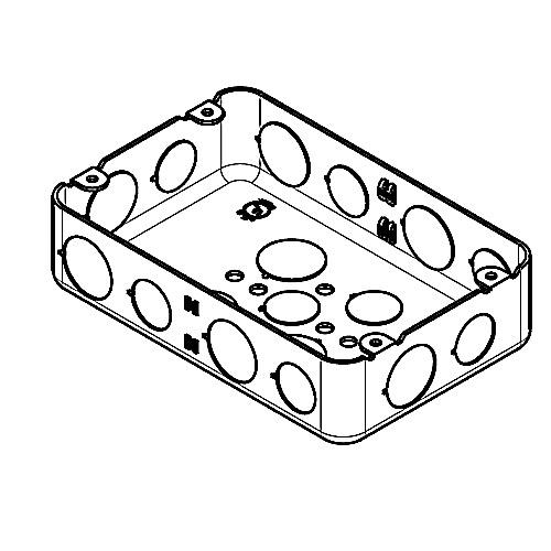 Thomas Amp Betts 2g 1 2 3 4 Steel Drawn Style 2 Gang Multi
