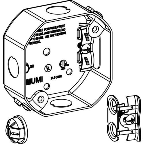 Orbit Industries Fsb Sheet Steel Ceiling Fan Support Box 4