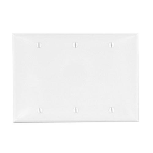 Leviton Gy Thermoplastic Nylon Box Mount Standard Size 3 Gang Blank Wallplate Gray
