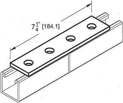 Morris Electroplated Zinc 4 Hole Splice Plate