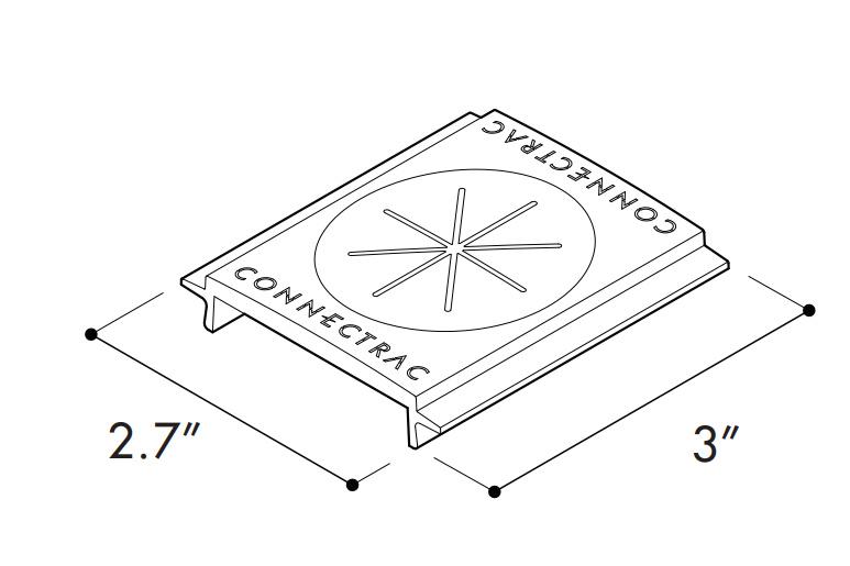 Connectrac Ac 2 7 Gt Bk Grommet 3 Inch X 2 7 Inch Abs Plastic Black