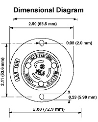 Leviton C Industrial Grade Flanged Inlet Locking
