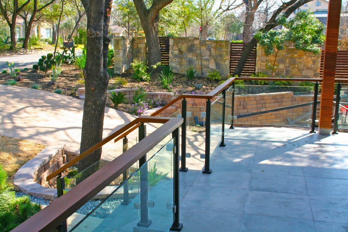 Glass Handrail Systems Residential Gallery Anchor Ventana Glass   Clear Handrails For Stairs   Steel   Clear Acrylic   Wood   Riser   Metal