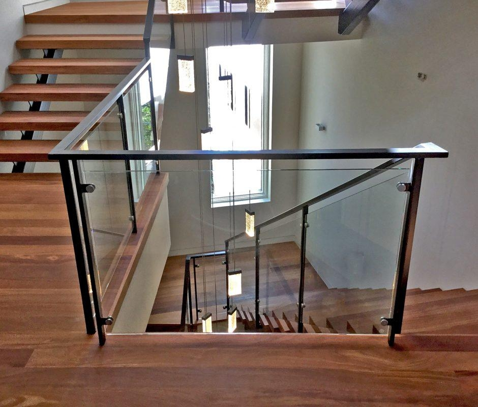 Open Up Your View With Glass Handrails Blog Anchor Ventana Glass   Glass Stair Railing Cost   Living Room   Glass Balustrade   Simple   Grill   Glass Wood Combined
