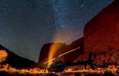 Heli-camping in southern Utah.