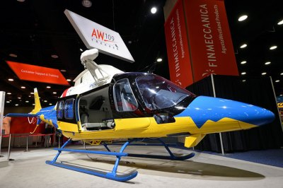 Not all of the helicopters in Louisville this week are on the Heli-Expo show floor. Here