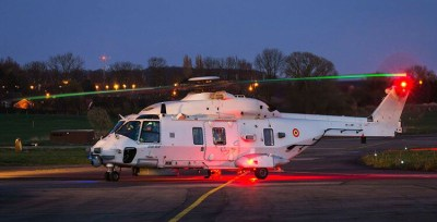 Belgian NH90 NFH helicopter at Beauvechain Air Base.