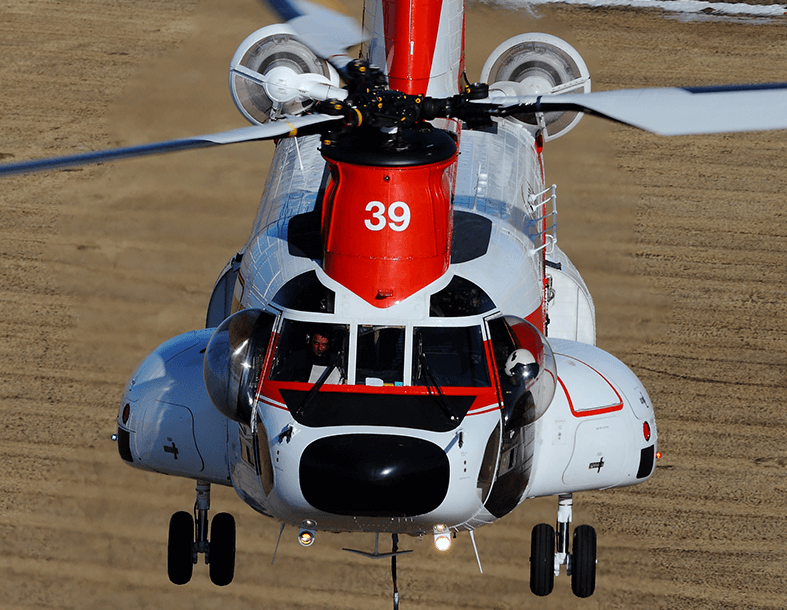 Columbia Helicopters has used bubble doors for its roughly 50-year history of flying external loads. The company plans to use bubble doors on its Model 234 (pictured) and Model CH-47D Chinooks. Columbia Helicopters Photo