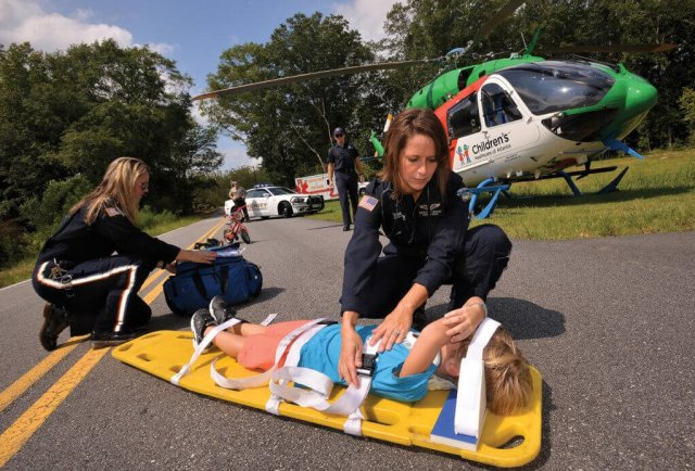 CHOA's patients range widely in size and age, and its helicopter must carry enough equipment to accommodate all of them.