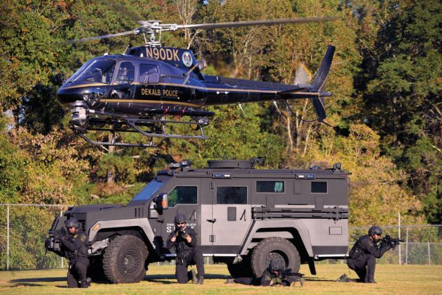 DeKalb's Aerial Support Unit works closely with it SWAT team. Working from the same location helps with integration between the units.