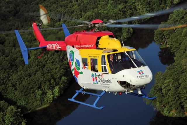 The BK117 that CHOA operated for many years was large enough to accommodate parents and specialty medical teams. Those capabilities were factors in CHOA's selection of the EC145e, which offers a similarly spacious cabin.