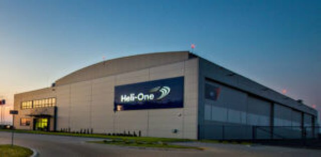 The 65,000-square-foot state-of-the-art facility in Poland has a maintenance hangar capable of accommodating up to six large airframes, a fully equipped avionics workshop, a structure shop with a specialized tail boom repair area, and a dedicated paint bay. Heli-One Photo