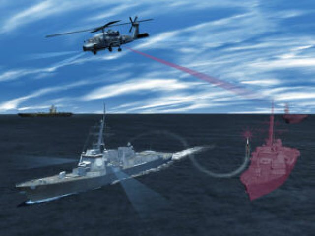 Lockheed Martin's Advanced Off-Board Electronic Warfare Active Mission Payload AN/ALQ-248 system, a pod hosted on an MH-60R or MH-60S, will enhance the way the U.S. Navy detects and responds to anti-ship missile threats. Lockheed Martin Photo