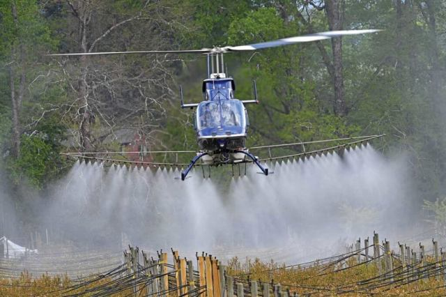 The company flies about 1,500 hours of spray work each year, covering more than 12,000 hectares.