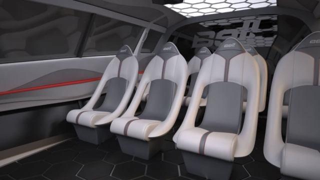 Interior view of seats