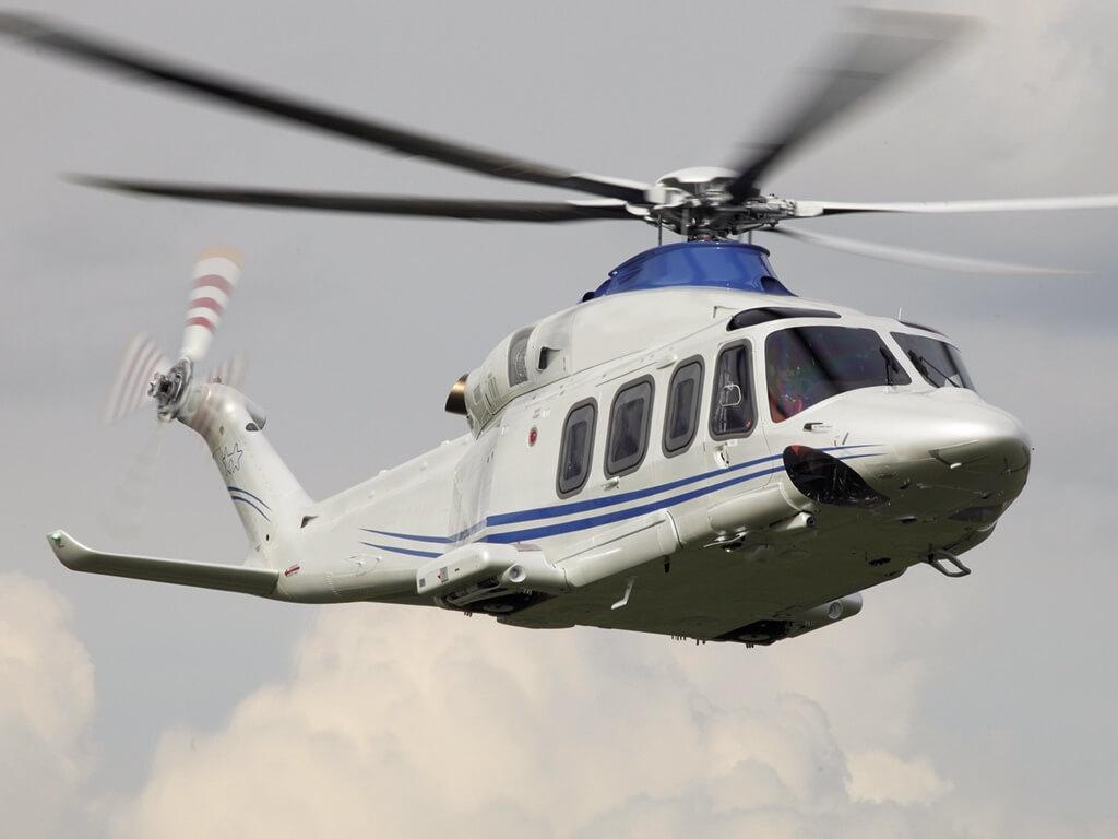 Leonardo helicopter in flight