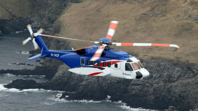 """Bristow president and CEO Jonathan Baliff said offshore operators are having to endure idle aircraft, but that Sikorsky S-92s were beginning to """"come in balance"""" with demand. Bristow Photo"""