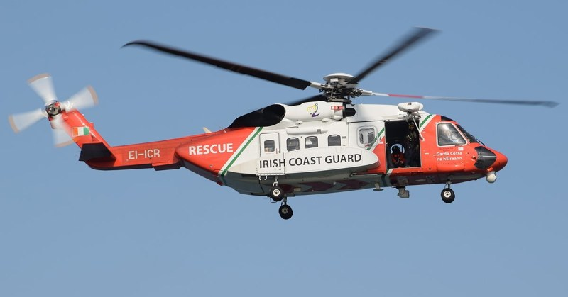 """EI-ICR, a Sikorsky S-92 operated by CHC Ireland for the Irish Coast Guard under the call sign """"Rescue 116,"""" crashed on March 14, killing all four crewmembers on board. Declan Keegan / Creative Commons Photo"""