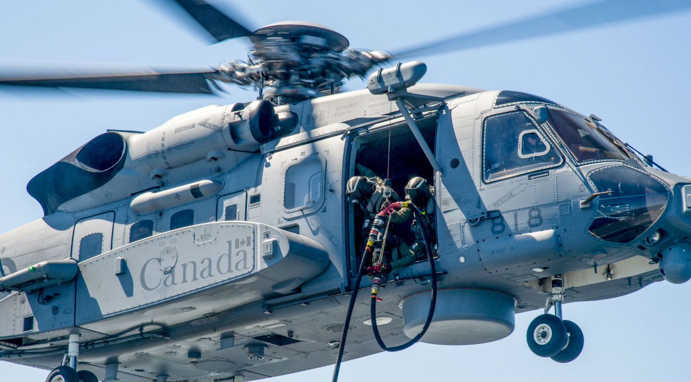 """Both Sikorsky and BAE, which built the helicopter's flight control system, are """"fully engaged"""" in the ongoing investigation into a March 9 incident that saw a Cyclone experience a """"momentary change in the descent rate"""" during a training mission. DND Photo"""