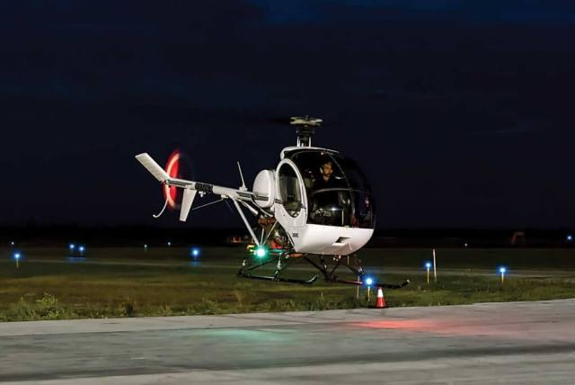 The UND aerospace division's helicopter department teaches about 55 students a year.