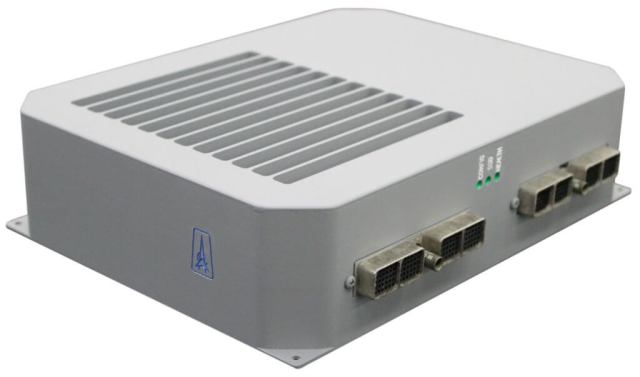 The Astronautics AGCS system consists of an airborne server, wireless communications module, remote media device, and ground server software creating a complete air-to-ground, modular data transmission system. Astronautics Photo