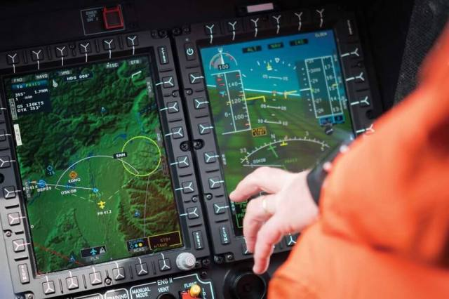 The Helionix displays make it possible to view all necessary aircraft safety and position information at a glance. Lloyd Horgan Photo