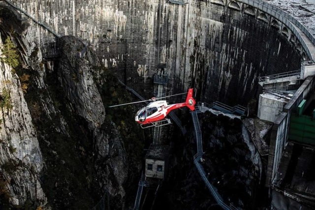 The H120 completes the types in Swiss Helicopter's fleet. The aircraft is predominantly used in the Swiss Plateau, away from the mountain ranges. It typically performs passenger transport and flight training missions.