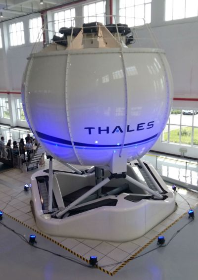 The Thales Reality H helicopter flight simulator is already in service around the world and was chosen for the first time in China because it provides operational efficiencies and high quality mission-oriented training to pilots. Thales Photo