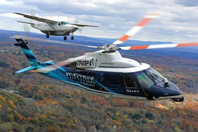 Sikorsky has demonstrated its Matrix Technology in a Cessna Caravan as well as an S-76. With the ALIAS program, according to DARPA's Graham Drozeski,