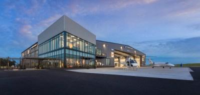 Hillsboro Aviation's award-winning hangar is located at the Portland-Hillsboro Airport in Oregon. Hillsboro Aviation Photo
