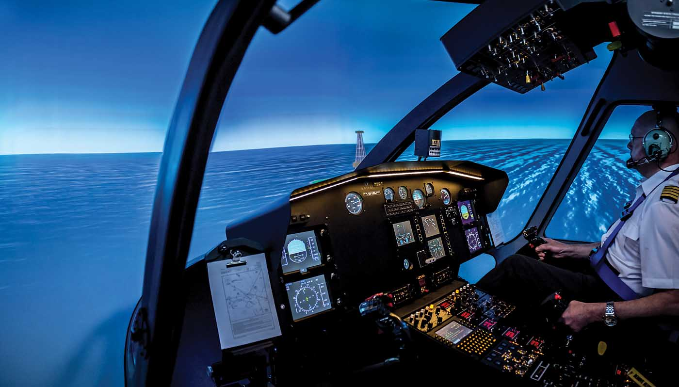 An Entrol H15/EC155 FNPT trainer. The company, based in Madrid, Spain, produces a range of FNPT and FTD simulators, for both fixedand rotary-wing aircraft, used around the world. Entrol Photo