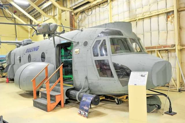 The Boeing HH-47 prototype for the cancelled USAF Combat Search and Rescue program was acquired by the museum. Skip Robinson
