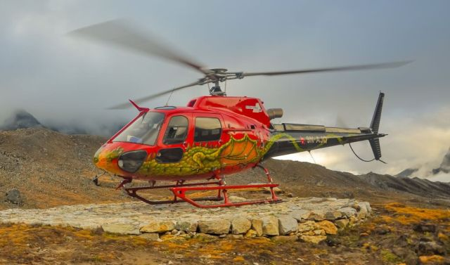 Many trekkers succumb to altitude sickness along popular high-altitude routes, such as the trek to Everest Base Camp. Medical evacuations covered by travel insurance companies are a primary driver of Nepal's civil helicopter industry. Surya Rai Photo