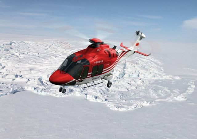 The AgustaWestland AW169 light intermediate helicopter will perform a range of roles including passenger transport, iceberg sighting, and cargo sling operations.
