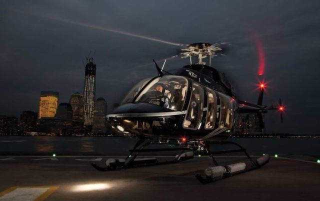 A Bell 407GX lands at a Manhattan heliport in New York City. The city has three downtown heliports to allow executives to beat the traffic on the roads below. Sheldon Cohen Photo